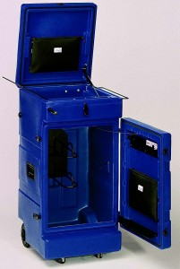 Sattelschrank blau